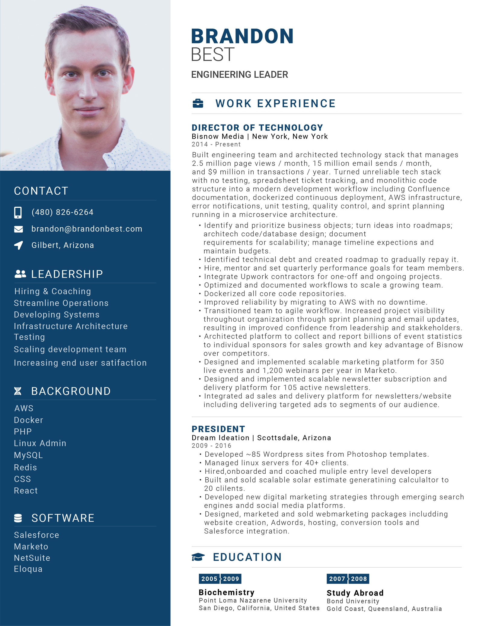 Brandon Best Resume